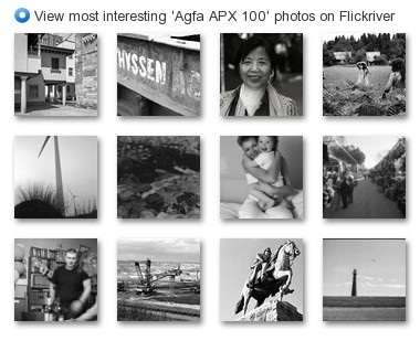 View most interesting 'Agfa APX 100' photos on Flickriver