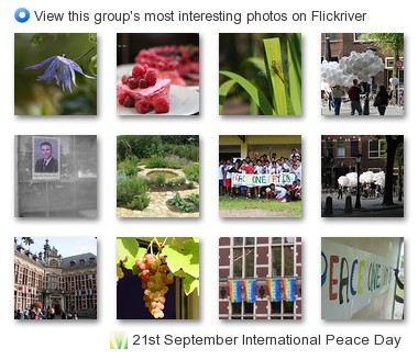 21st September International Peace Day - View this group's most interesting photos on Flickriver