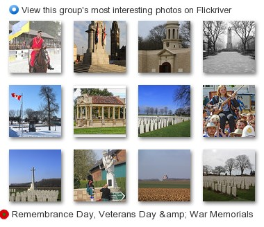 Remembrance Day, Veterans Day & War Memorials - View this group's most interesting photos on Flickriver