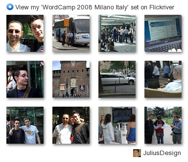 JuliusDesign - View my 'WordCamp 2008 Milano Italy' set on Flickriver