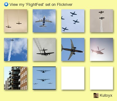 Kutoyx - View my 'FlightFest' set on Flickriver